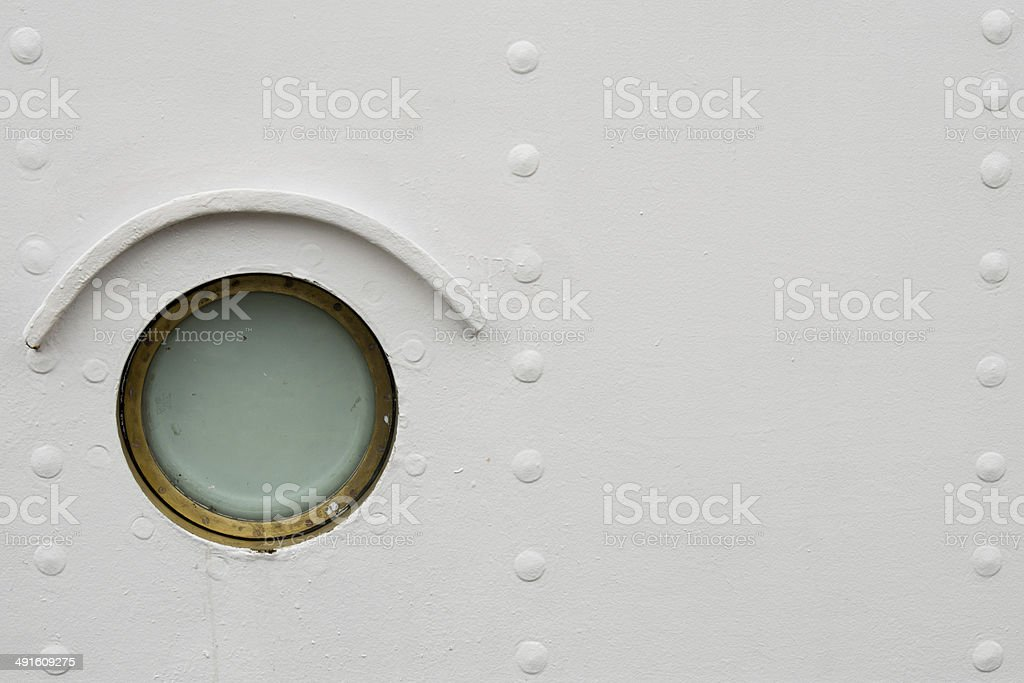 ship window stock photo