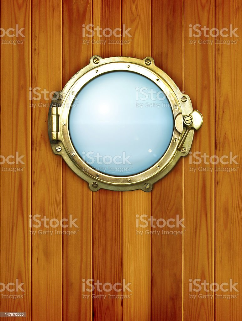 Ship window - porthole stock photo