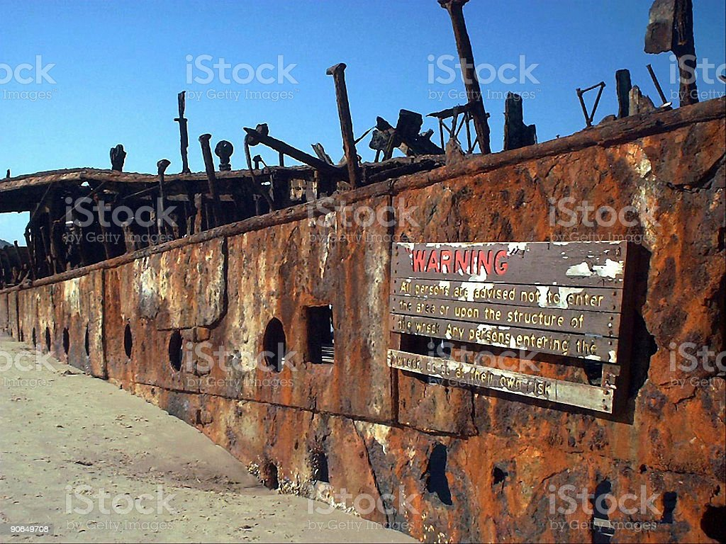 Ship wreck - close up royalty-free stock photo
