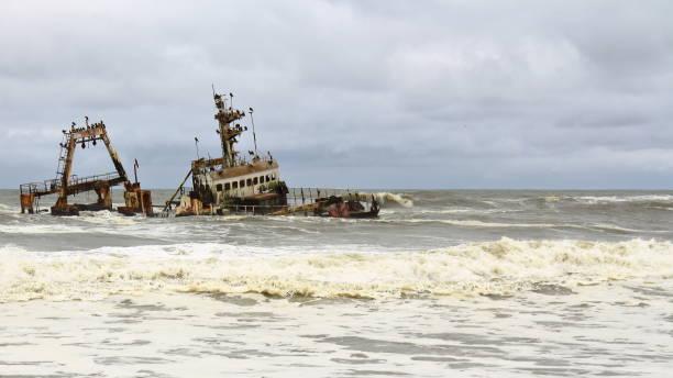 Épave de navire en côte des squelettes, Namibie - Photo