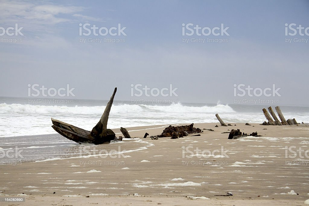 Ship wreck stock photo