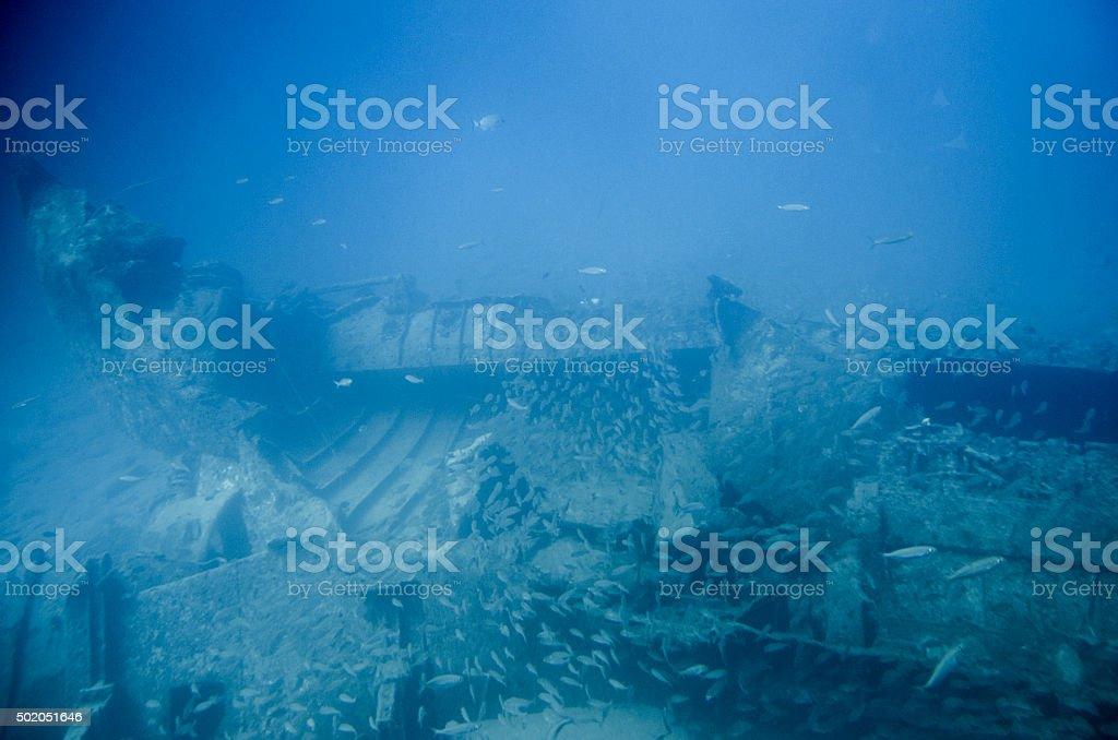 Ship wreck stock photo