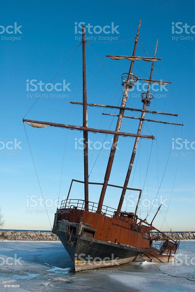 Navires naufragés photo libre de droits