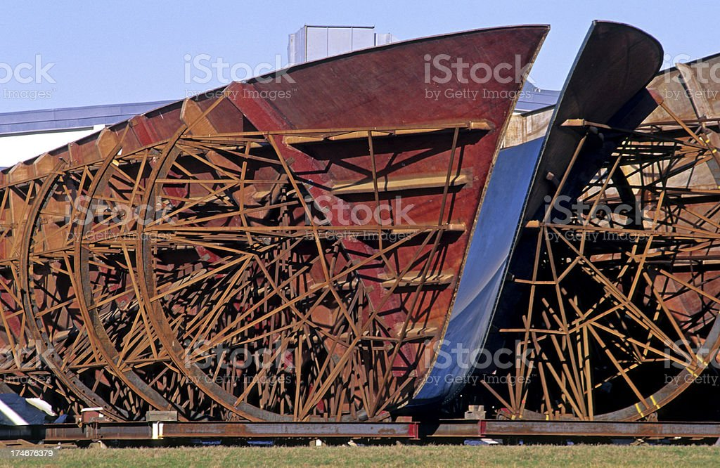 Shipbuilder's buttressed form stock photo
