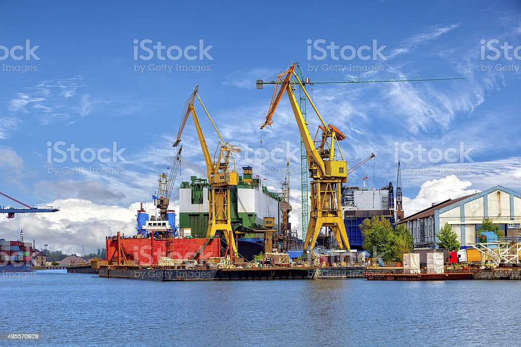 Shipbuilding industry stock photo