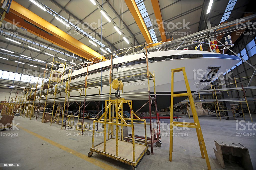 Shipbuilding stock photo