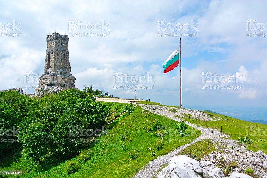 Shipka monument stock photo