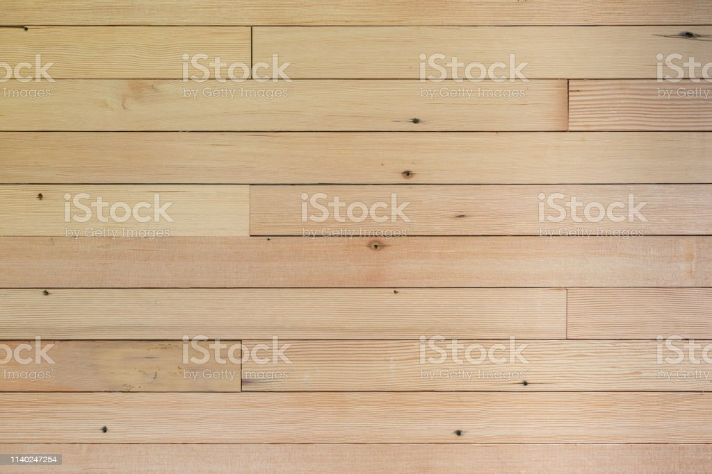 Shiplap Wall, Natural unfinished wood stock photo