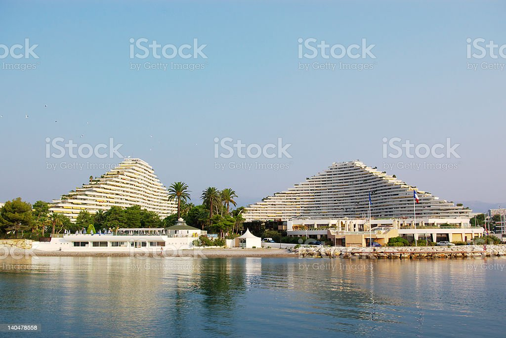 ship-like grand hotels royalty-free stock photo