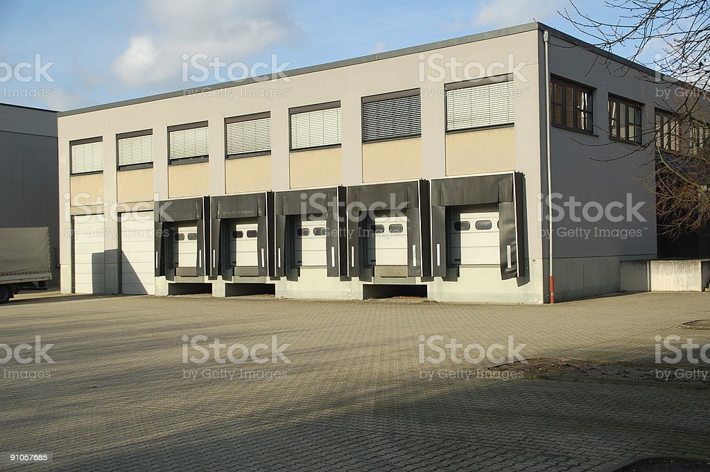 Shipment Building royalty-free stock photo