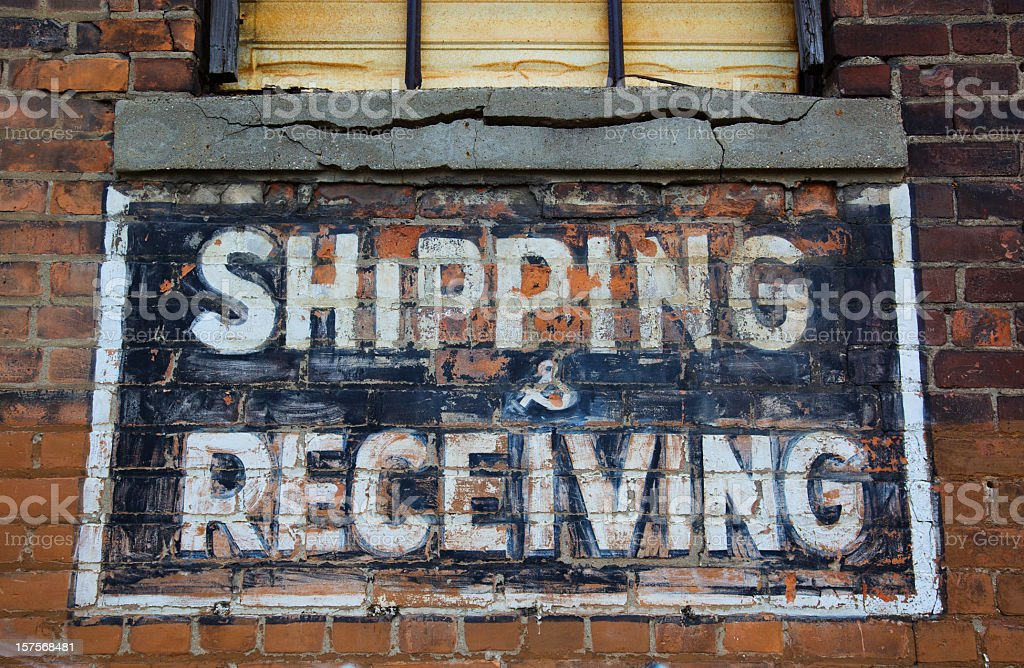 Shipping and Receving Sign royalty-free stock photo