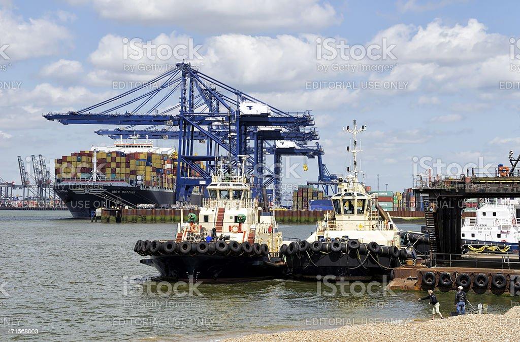 Shipping at Port of Felixstowe royalty-free stock photo