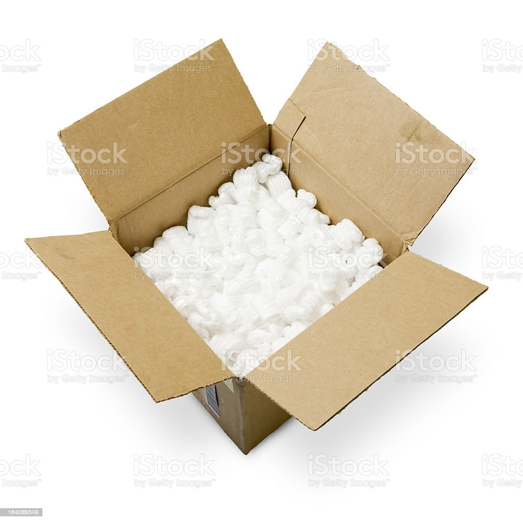 Shipping Box Isolated on White Background (with Clipping Path) royalty-free stock photo