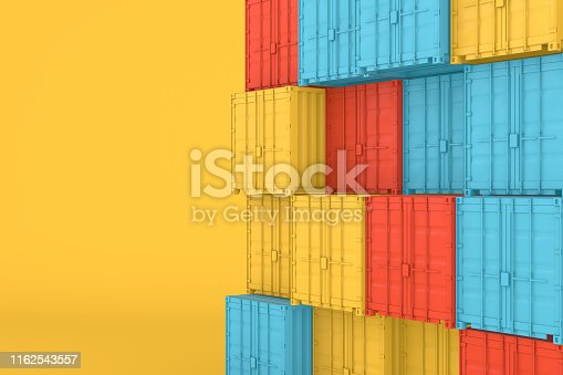 697974610 istock photo Shipping Container Minimal Design 1162543557