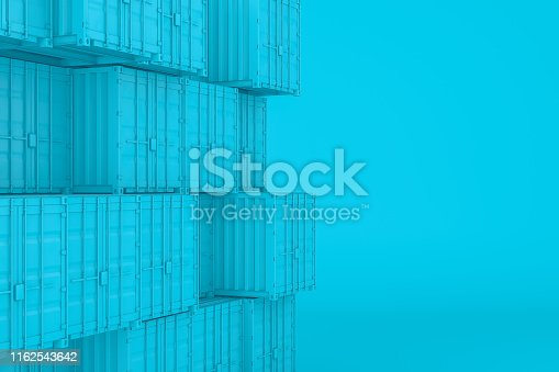 697974610 istock photo Shipping Container Minimal Design 1162543642