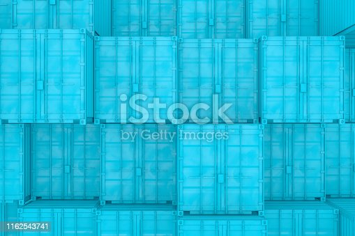 697974610 istock photo Shipping Container Minimal Design 1162543741