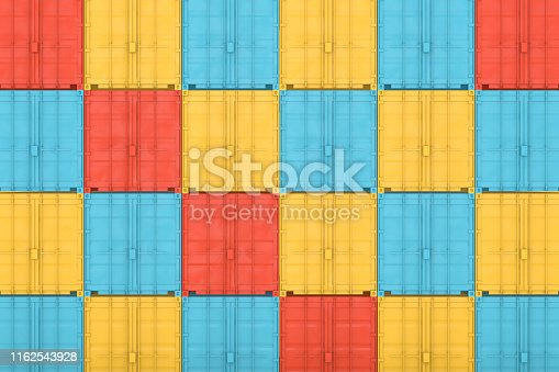 697974610 istock photo Shipping Container Minimal Design 1162543928