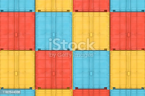 697974610 istock photo Shipping Container Minimal Design 1162544038