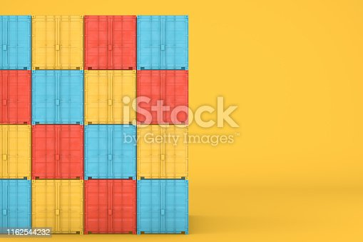 697974610 istock photo Shipping Container Minimal Design 1162544232