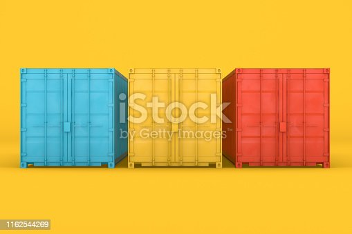 697974610 istock photo Shipping Container Minimal Design 1162544269
