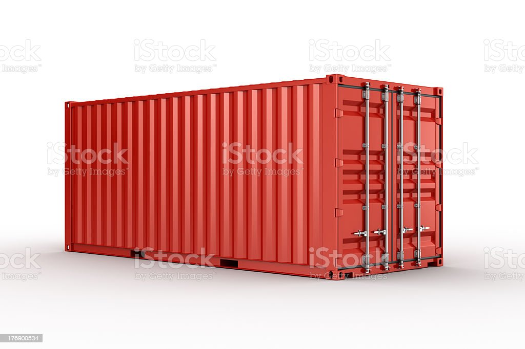 Shipping container royalty-free stock photo