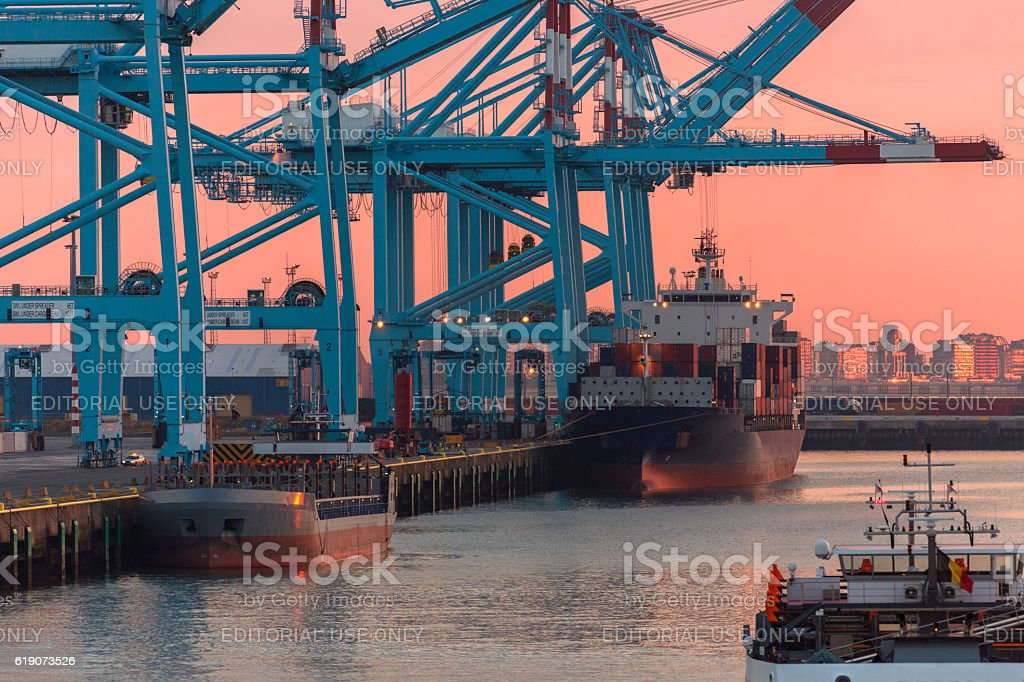 Shipping - Container Port - Logistics stock photo