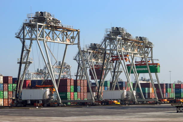 Shipping Container-Hafen – Foto