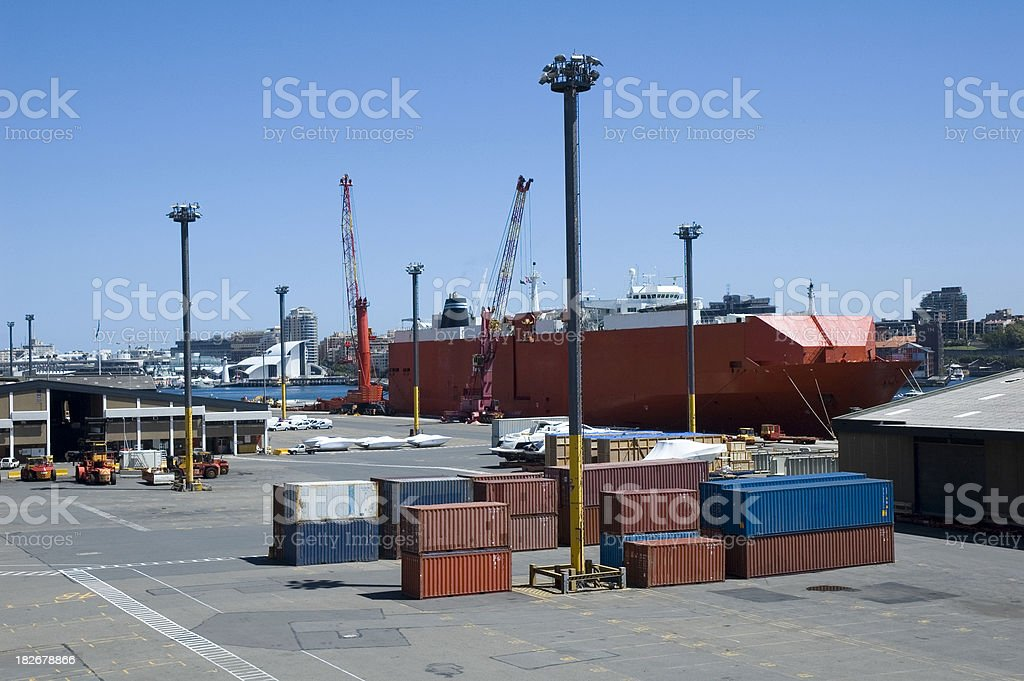 Shipping dock royalty-free stock photo