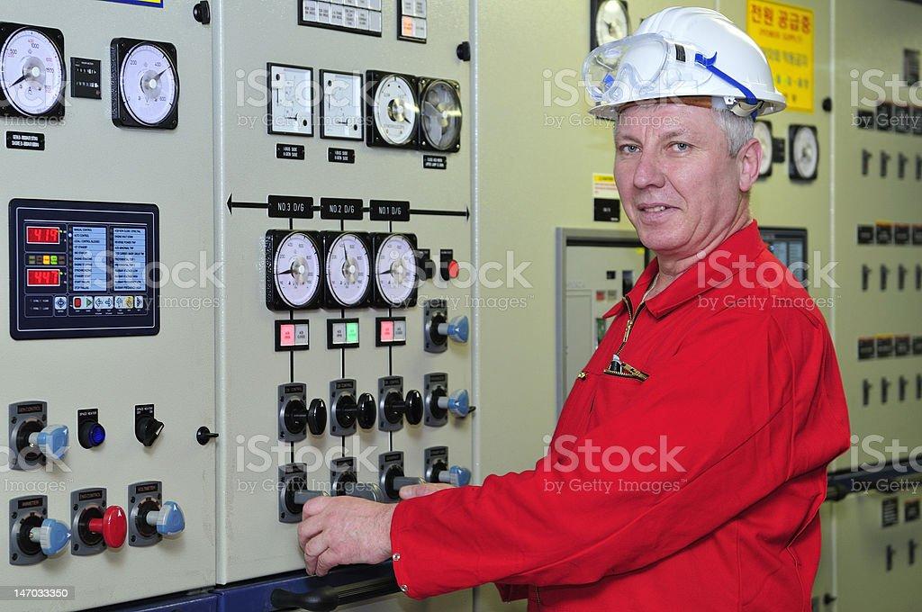 Shipping engineer royalty-free stock photo