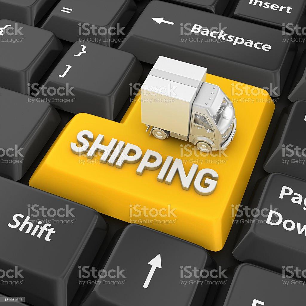 shipping enter key royalty-free stock photo