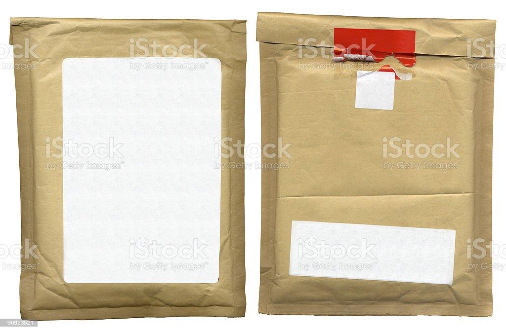 Shipping envelope royalty-free stock photo