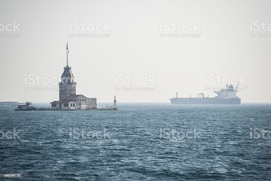 Shipping in Istanbul Turkey royalty-free stock photo