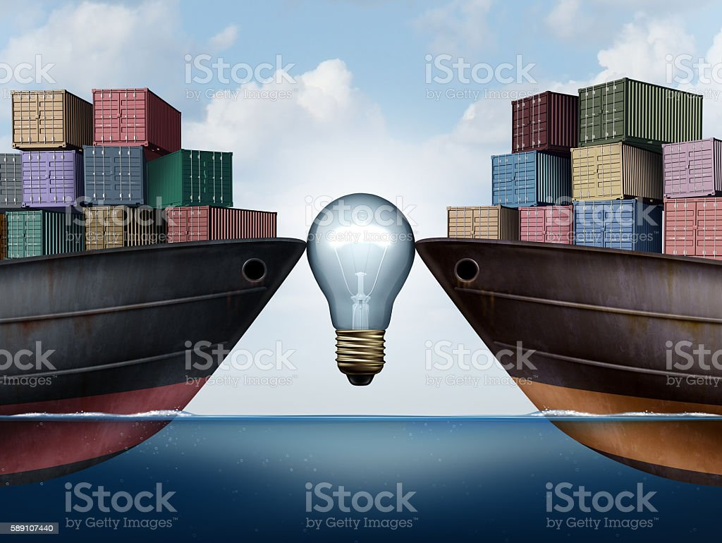 Shipping Logistics Idea stock photo