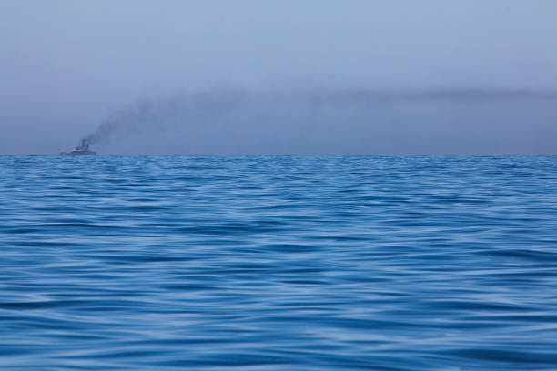 Shipping Marine pollution stock photo