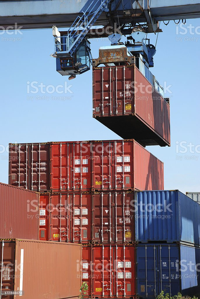 Shipping of containers royalty-free stock photo