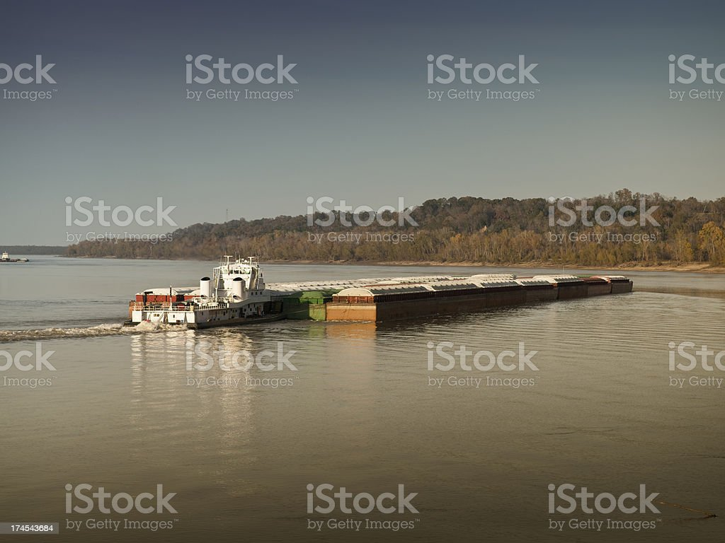 Shipping on the Mississippi River stock photo