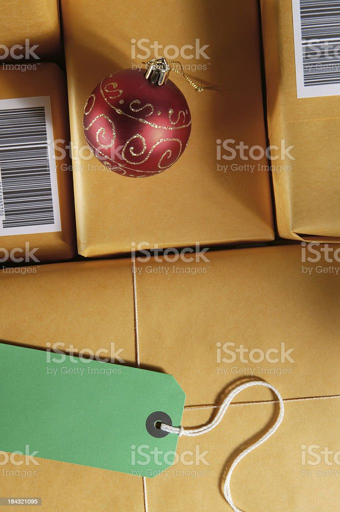 shipping on time for christmas royalty-free stock photo