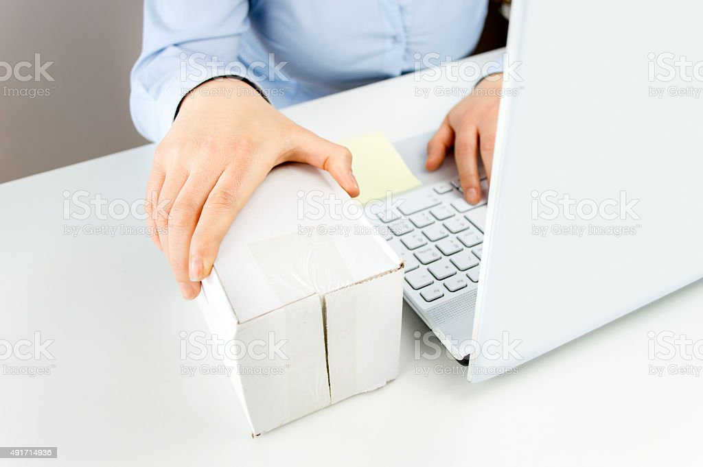 shipping online stock photo