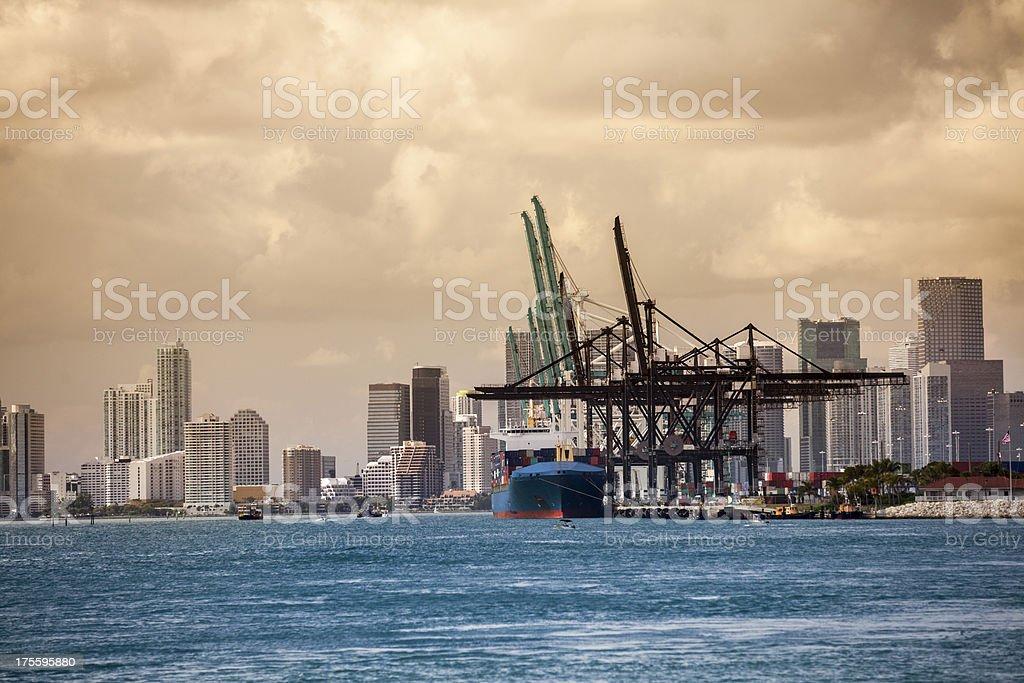 Shipping port of Miami Florida royalty-free stock photo