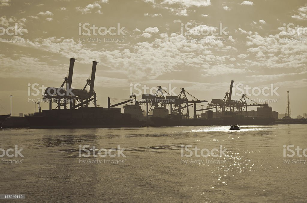 Shipping port royalty-free stock photo