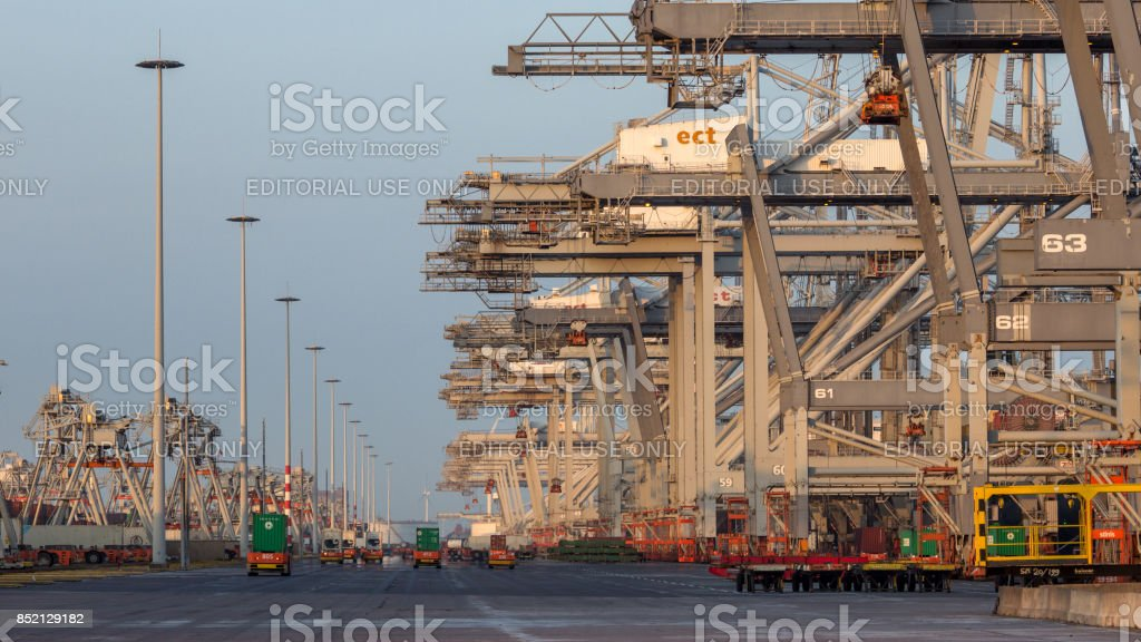 Shipping port stock photo
