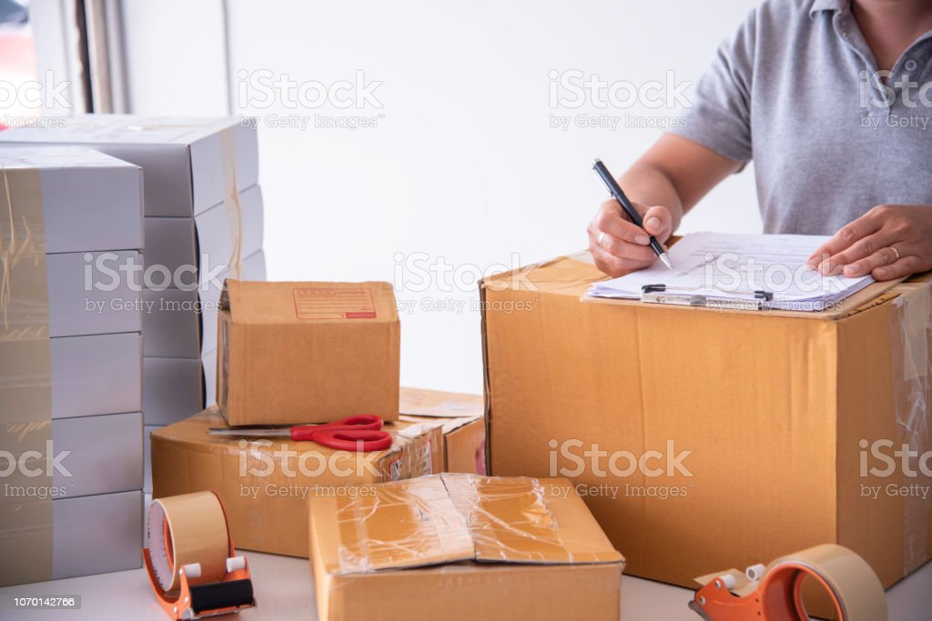 Shipping Staff Are Checking The Product Before Shipping To