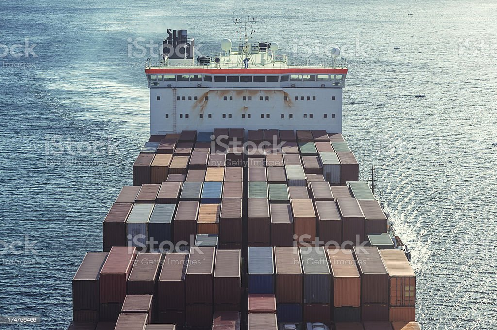 Shipping Symmetry royalty-free stock photo