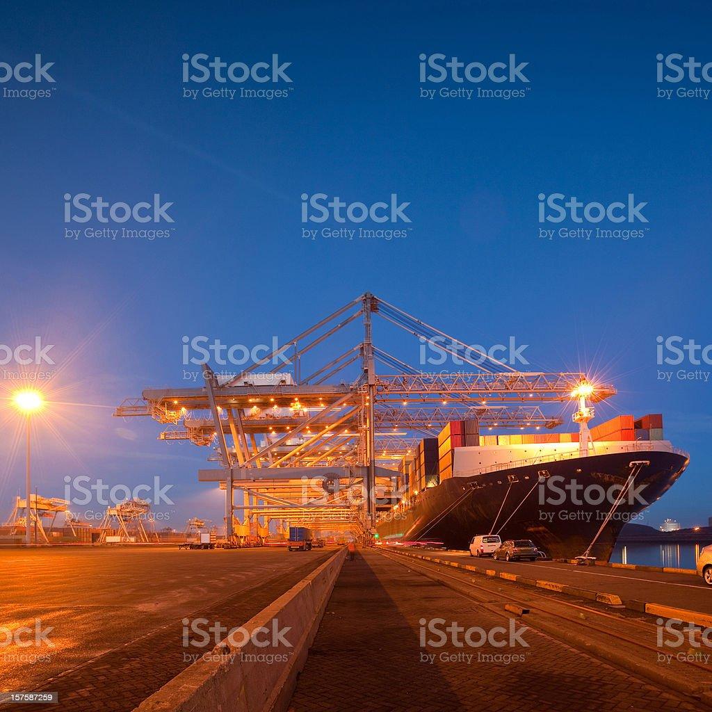 Shipping terminal royalty-free stock photo