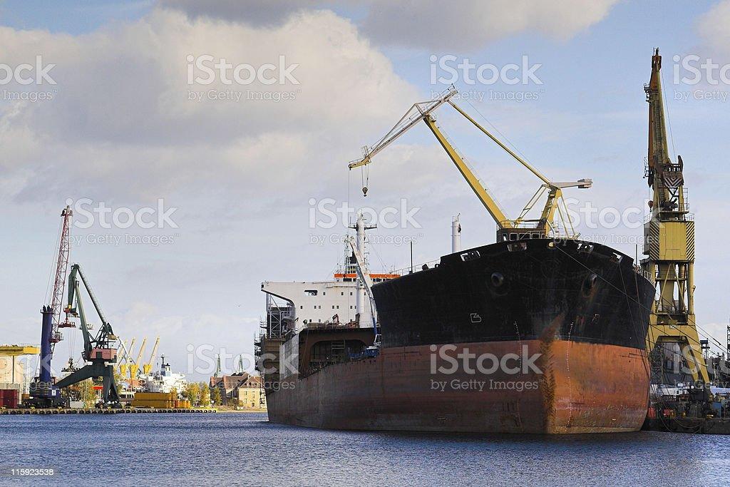 Shiprepair Yard of Gdansk royalty-free stock photo