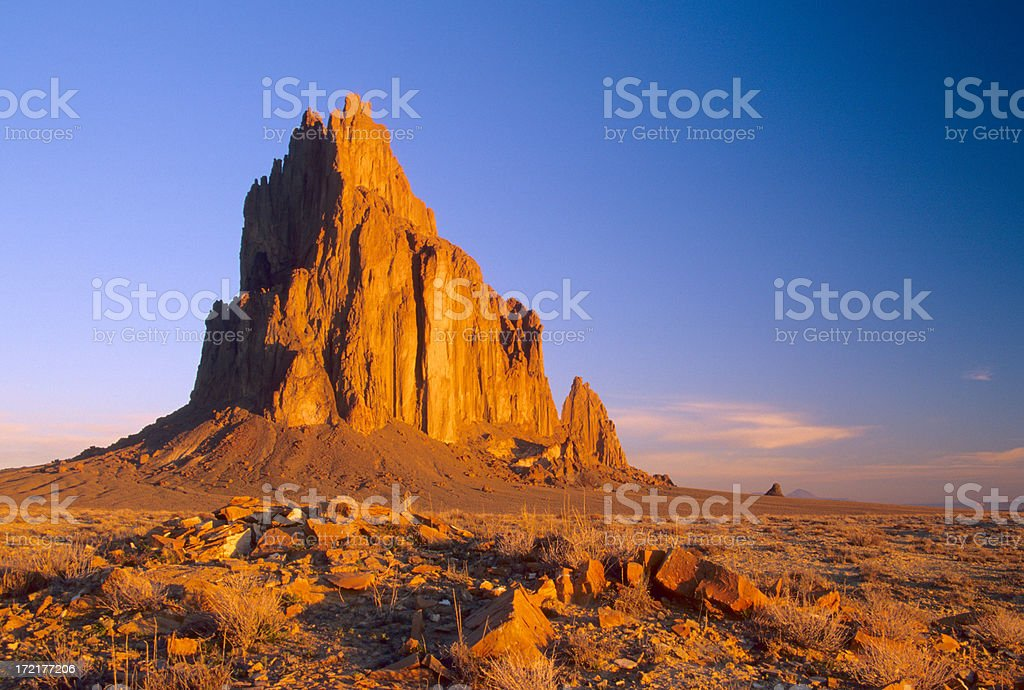 Shiprock royalty-free stock photo