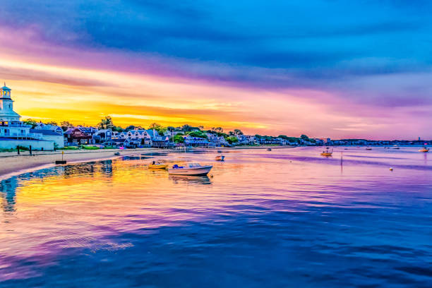 Ships and boats in the Provincetown Marina during sunset Provincetown, MA Ships and boats in the Provincetown Marina during sunset Provincetown, MA, USA provincetown stock pictures, royalty-free photos & images