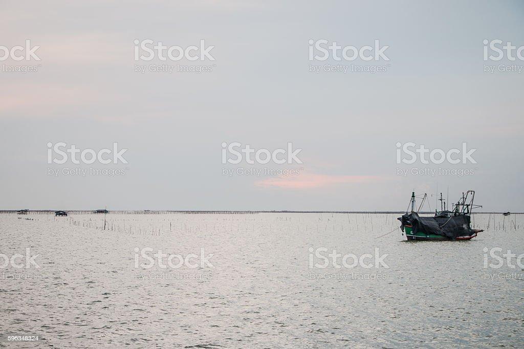 Ships at sea royalty-free stock photo
