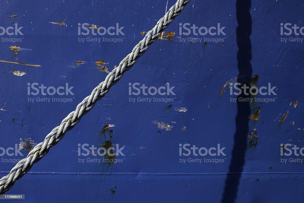Ship's Blue Hull stock photo