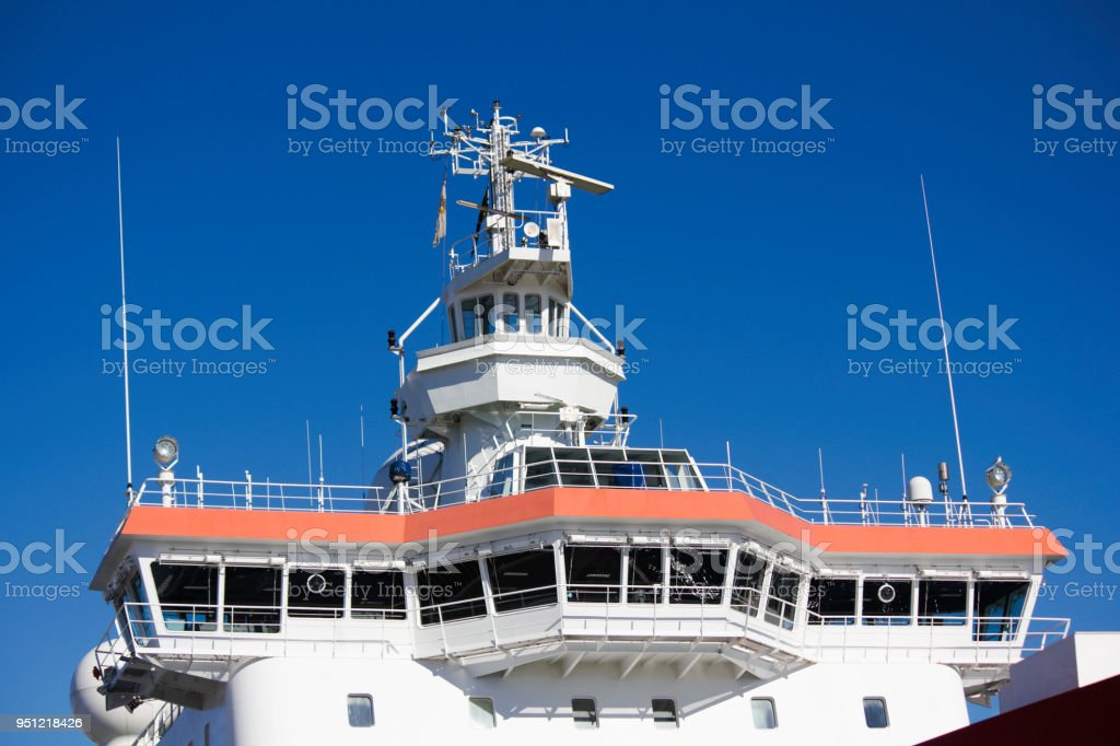 Ships Bridge And Crow Nest Stock Photo - Download Image Now - iStock
